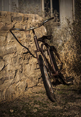 Photograph - Abandoned Bicycle by Amber Kresge