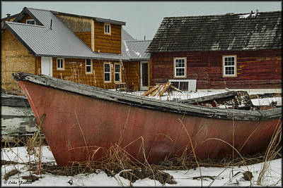 Photograph - Abandoned Boat by Erika Fawcett