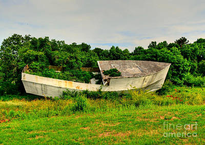 Photograph - Abandoned Boat by Kathy Baccari