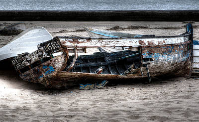 Photograph - Abandoned Boat by Marco Oliveira