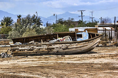Digital Art - Abandoned Boat by Photographic Art by Russel Ray Photos