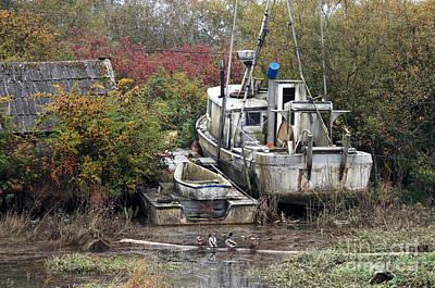 Abandoned Boat Original by Volodymyr Kyrylyuk