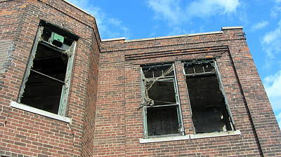 Photograph - Abandoned Building Close Up 1 by Anita Burgermeister
