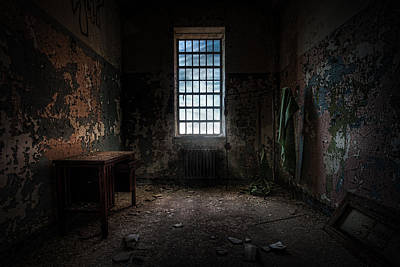 Creepy Photograph - Abandoned Building - Old Room - Room With A Desk by Gary Heller