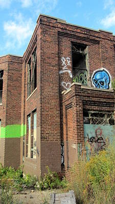 Photograph - Abandoned Building W Graffiti by Anita Burgermeister