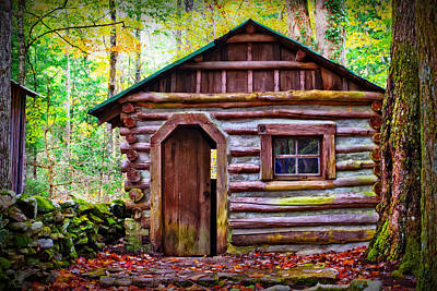 Abandoned Elkmont Wall Art - Photograph - Abandoned Cabin by Lawrence Golla