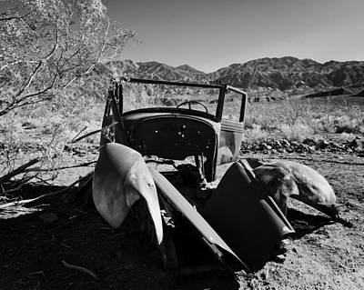 Panamint Valley Photograph - Abandoned Car Ballarat Ca by Troy Montemayor