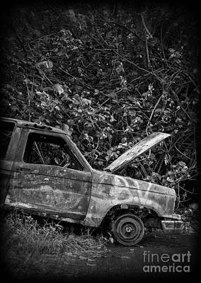 Photograph - Abandoned Car Road To Hana Maui by Edward Fielding