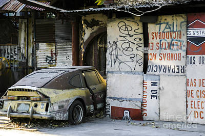 Photograph - Abandoned Car by Steven Ralser