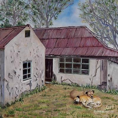 Abandoned Pets Painting - Abandoned. by Caroline Street