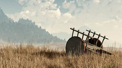 Abandoned Cart Print by Daniel Eskridge