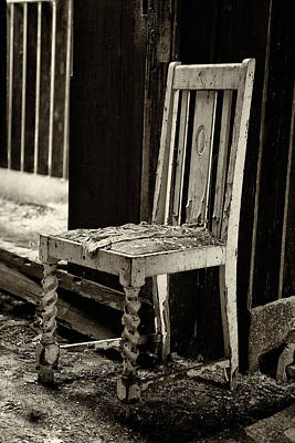Atmospheric Photograph - Abandoned Chair by Russ Dixon