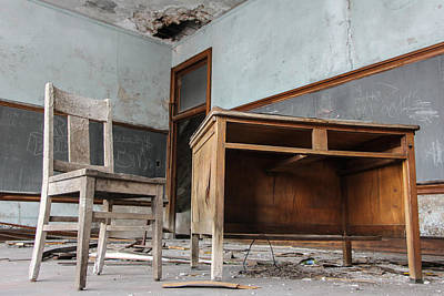 Photograph - Abandoned Classroom In Detroit  by John McGraw