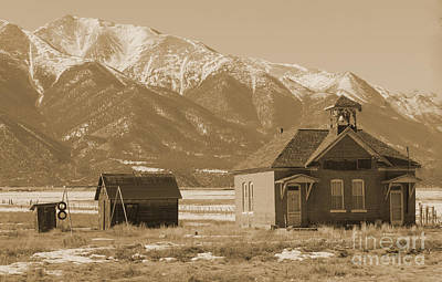 Little Red School House Photograph - Abandoned Colorado School House by Janice Rae Pariza
