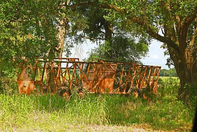 Photograph - Abandoned  Decaying Sugarcane Karts by Ronald Olivier