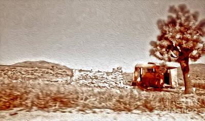 Abandoned Desert Trailer Art Print by Gregory Dyer