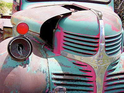 Dodge Truck Wall Art - Photograph - Abandoned Dodge Truck Rusting by Tony Craddock/science Photo Library