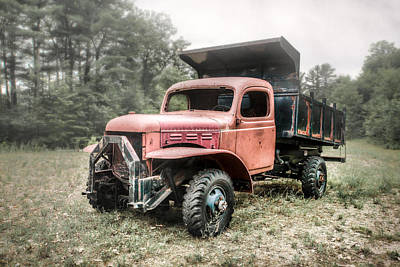 Old Trucks Photograph - Abandoned Dump Truck - American Classics by Gary Heller
