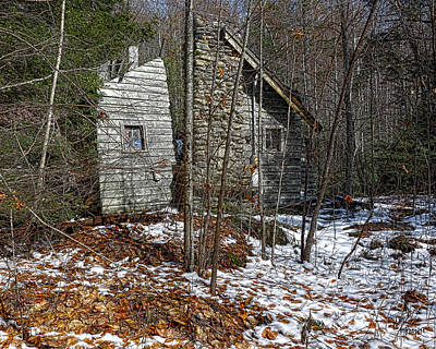Photograph - Abandoned Elkmont Cabin - Old House Smoky Mountains by Rebecca Korpita