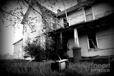 Abandoned Farm House Black And White Art Print by Catherine Sherman