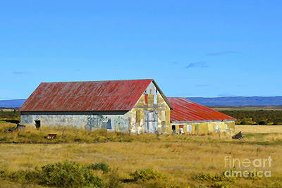 Digital Art - Abandoned Farm House In Iceland by Eva Kaufman
