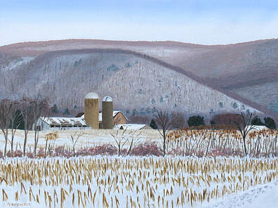 Abandoned Farm In The Mountain's Shadow Art Print