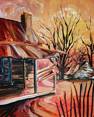 Painting - Abandoned Farm by Lizi Beard-Ward
