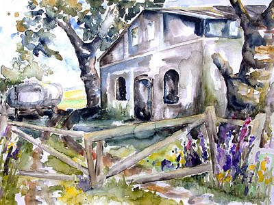 Abandoned Farm  Nossentin Print by Barbara Pommerenke