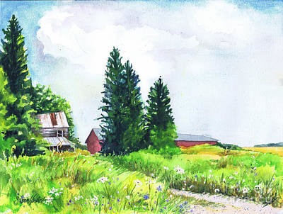 Painting - Abandoned Farmhouse by Susan Herbst