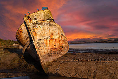 Photograph - Abandoned Fishing Boat At Inverness by Kathleen Bishop