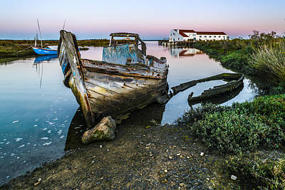 Abandoned Fishing Boat II Art Print by Marco Oliveira