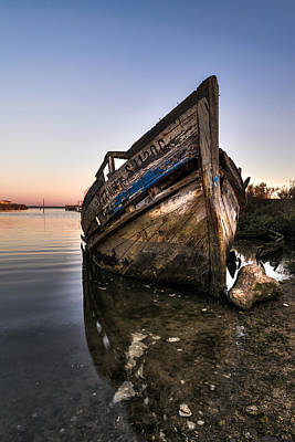 Carcass Photograph - Abandoned Fishing Boat Iv by Marco Oliveira
