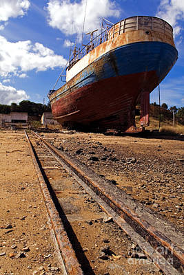 Trawler Photograph - Abandoned Fishing Ship by Jose Elias - Sofia Pereira