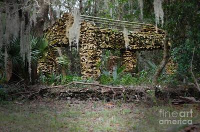 Stone Buildings Photograph - Abandoned - Florida by Mary Machare