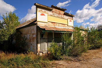 Photograph - Abandoned General Store by Daniel Woodrum