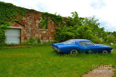 Art Print featuring the photograph Abandoned Gym And Car by Utopia Concepts