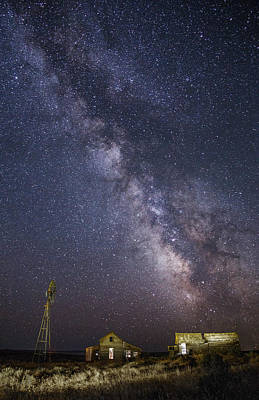 Abandoned Homestead And The Milky Way Art Print
