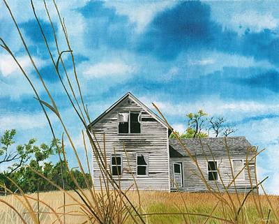 Abandoned Farm House Painting - Abandoned Homestead by David Wolfer