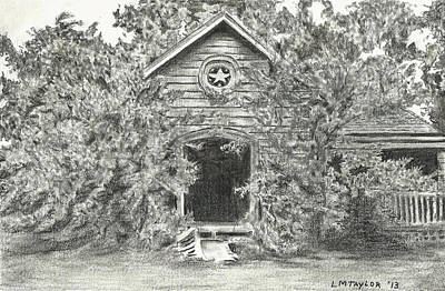 Ghost Towns Drawing - Abandoned Homestead by Linda Taylor