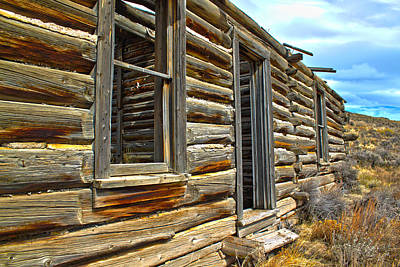 Log Cabin Photograph - Abandoned Homestead by Shane Bechler