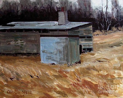 Abandoned Ice House Circa Late 1800.s Print by Charlie Spear