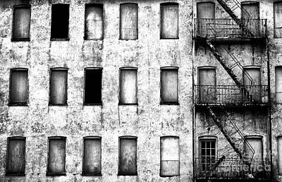 Photograph - Abandoned In Asbury Park Bw by John Rizzuto
