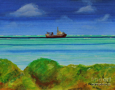 Painting - Abandoned In The Turquise Waters by Robyn Saunders