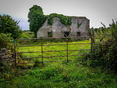 Photograph - Abandoned Irish House by James Truett