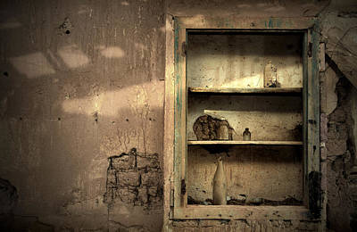 Abandoned Kitchen Cabinet Art Print