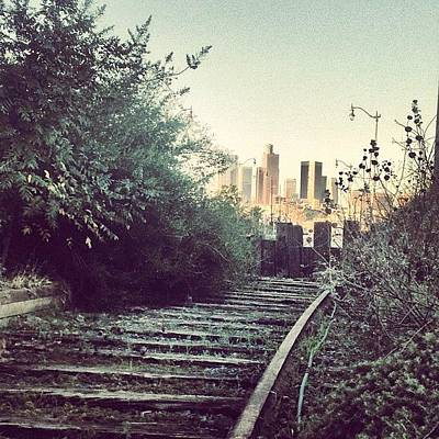 Track Photograph - Abandoned L.a. Railroad Track. #dtla by Andres Cruz