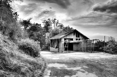 Abandoned La Zoo Dr's  Barn House Art Print by Purple Moon