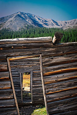 Photograph - Abandoned Log Cabin In Independence Colorado by Julie Magers Soulen