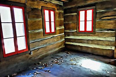 Abandoned Elkmont Log Cabin  Art Print by Rebecca Korpita