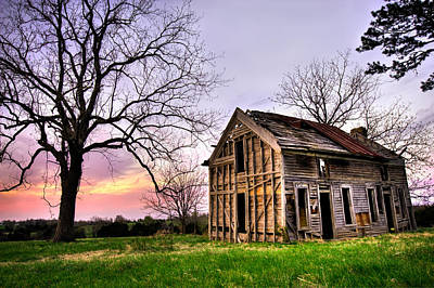 House On The Hill Photograph - Abandoned Memories - Gateway, Arkansas by Gregory Ballos